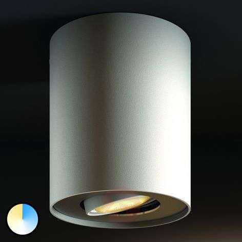 Philips Hue White Ambiance Pillar faretto, bianco