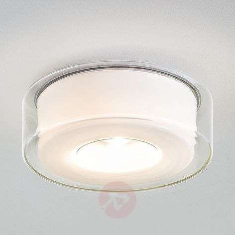 Plafoniera LED Curling di design, vetro
