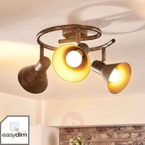 Plafoniera LED dimmerabile Zera, ruggine-oro