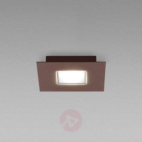 Plafoniera LED Quarter con bordo marrone
