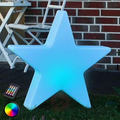 Stella a LED decorativa Shining Star RGB 80 cm