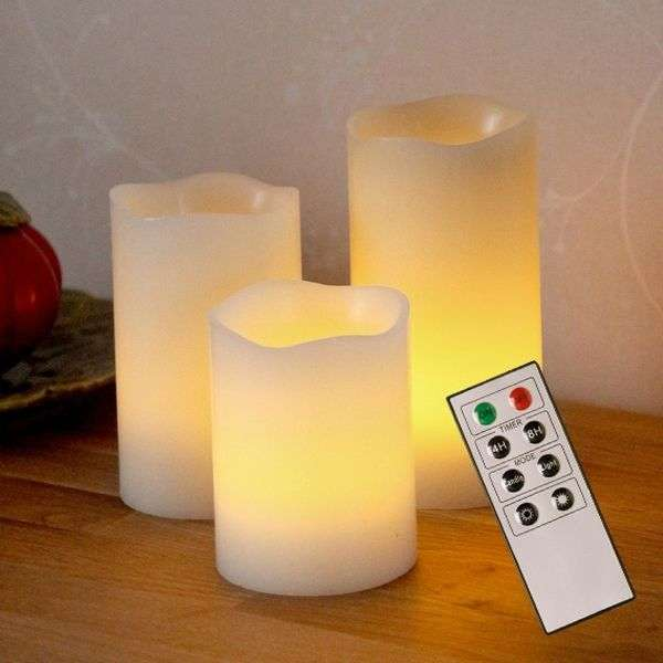 Decorative candele LED Wax di cera-1522391-31
