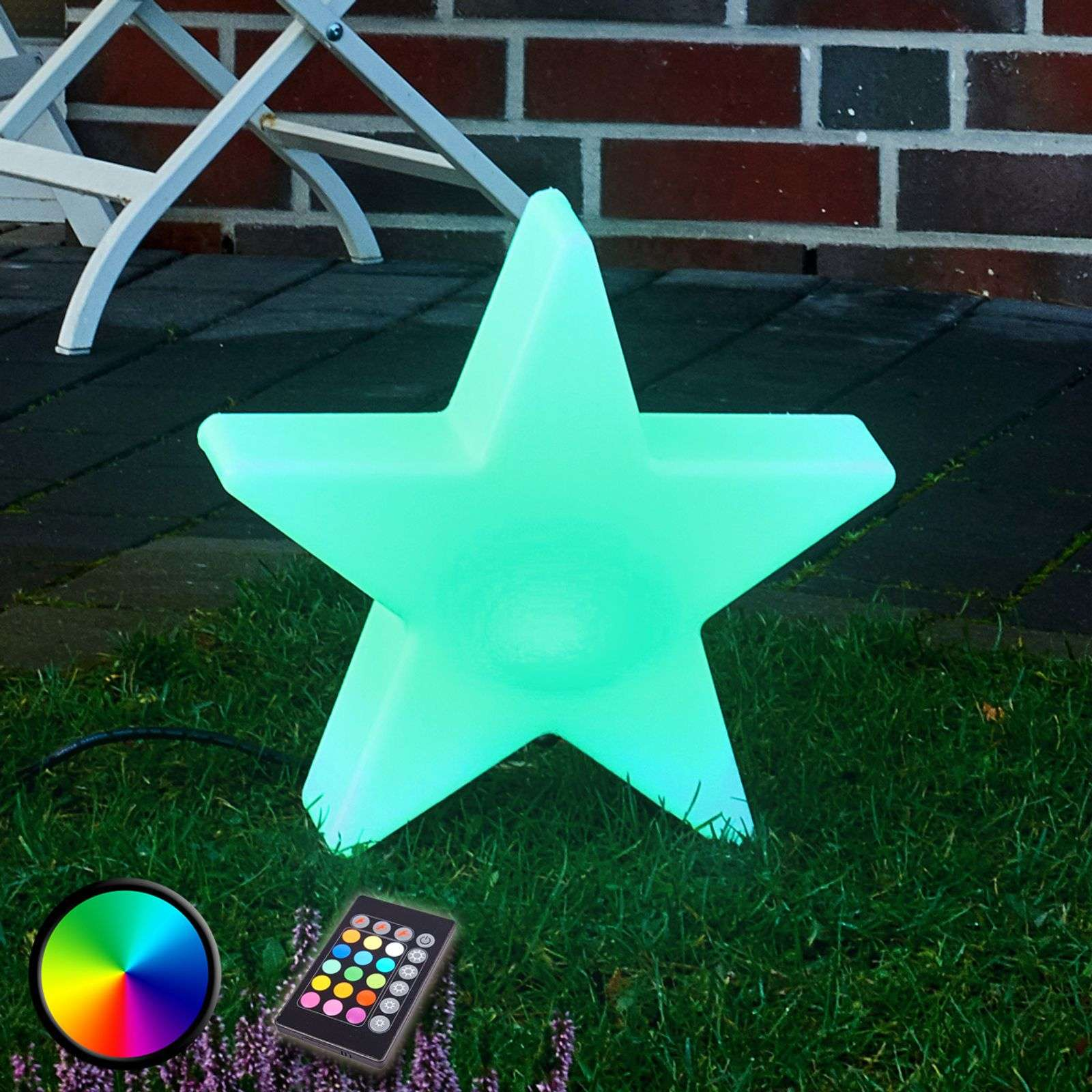 Lampada LED da esterni decorativa Shining Star RGB