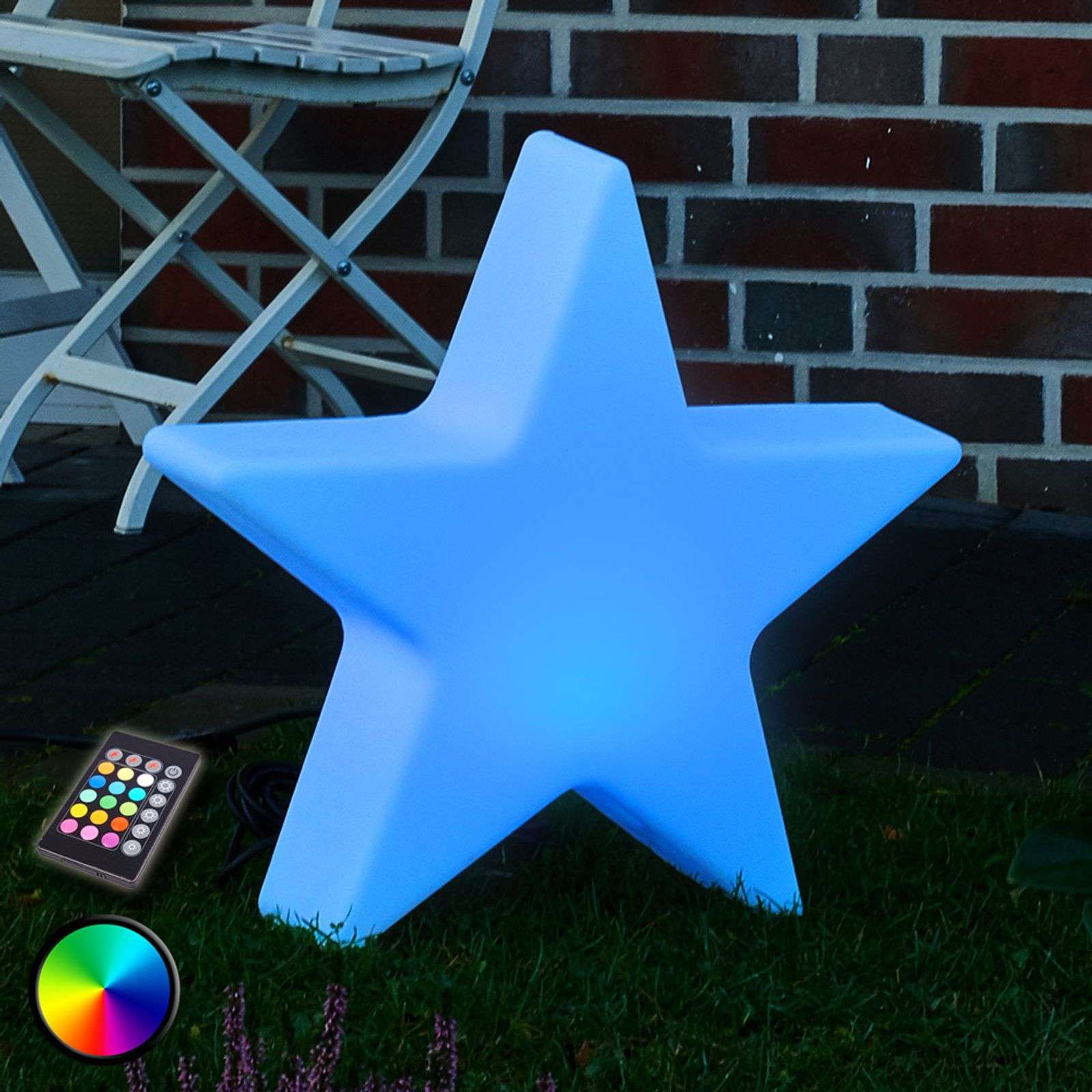 Lampada decorativa LED RGB Shining Star, 40�cm