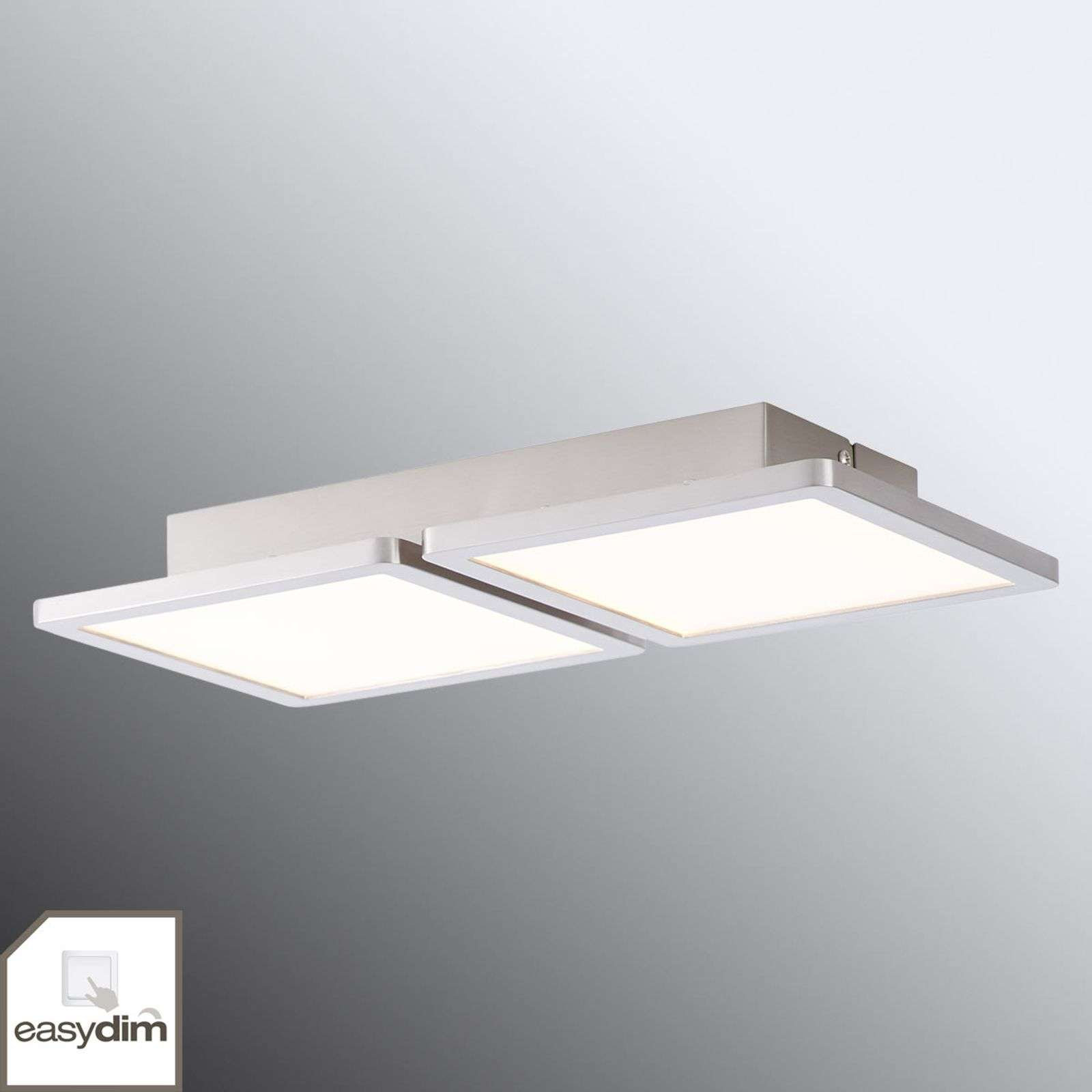 Lampada LED da soffitto Scope a 2 luci dimmerabile