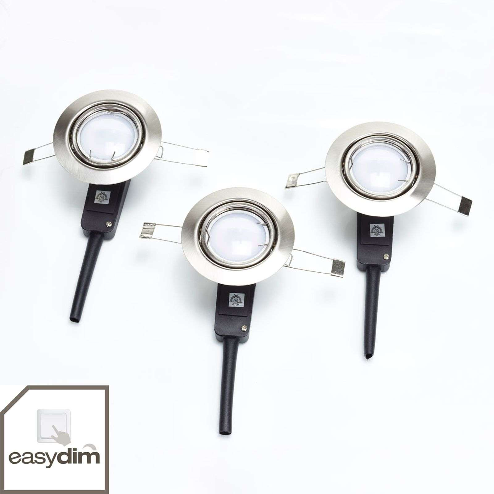Lampada LED da incasso Honor easydim set da 3