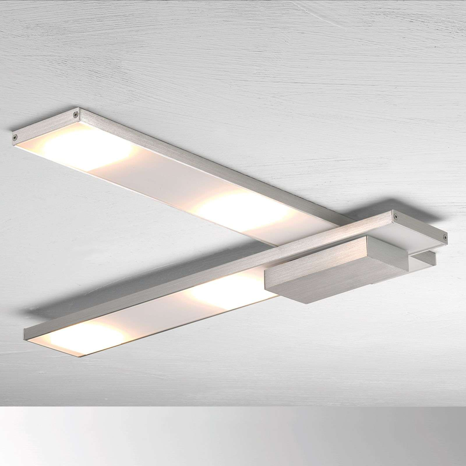 Raffinata plafoniera LED Slight, alluminio