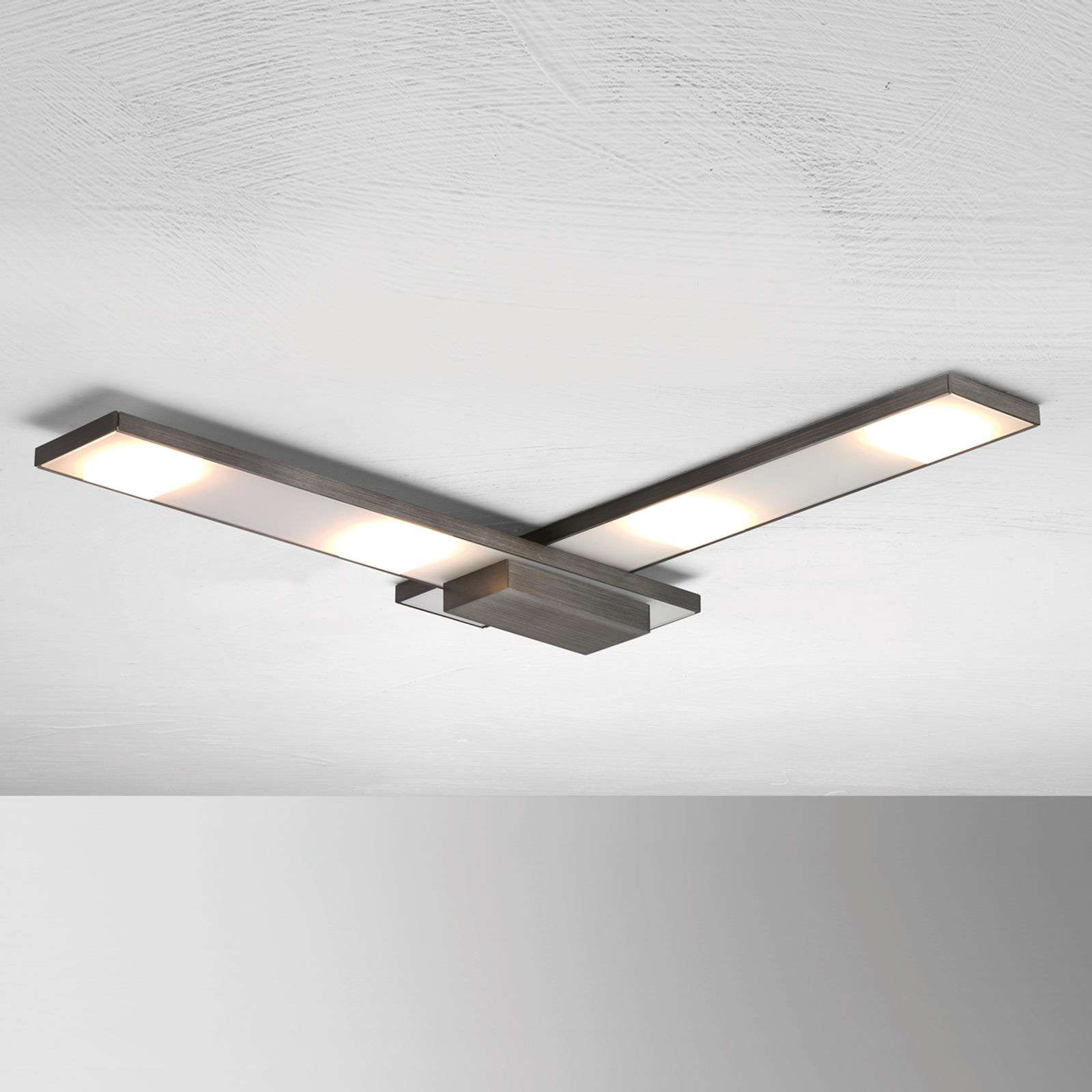 Raffinata plafoniera LED Slight, antracite
