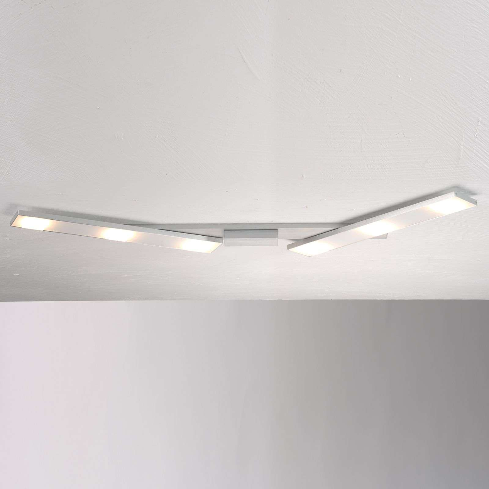 Plafoniera LED Slight orientabile, alluminio
