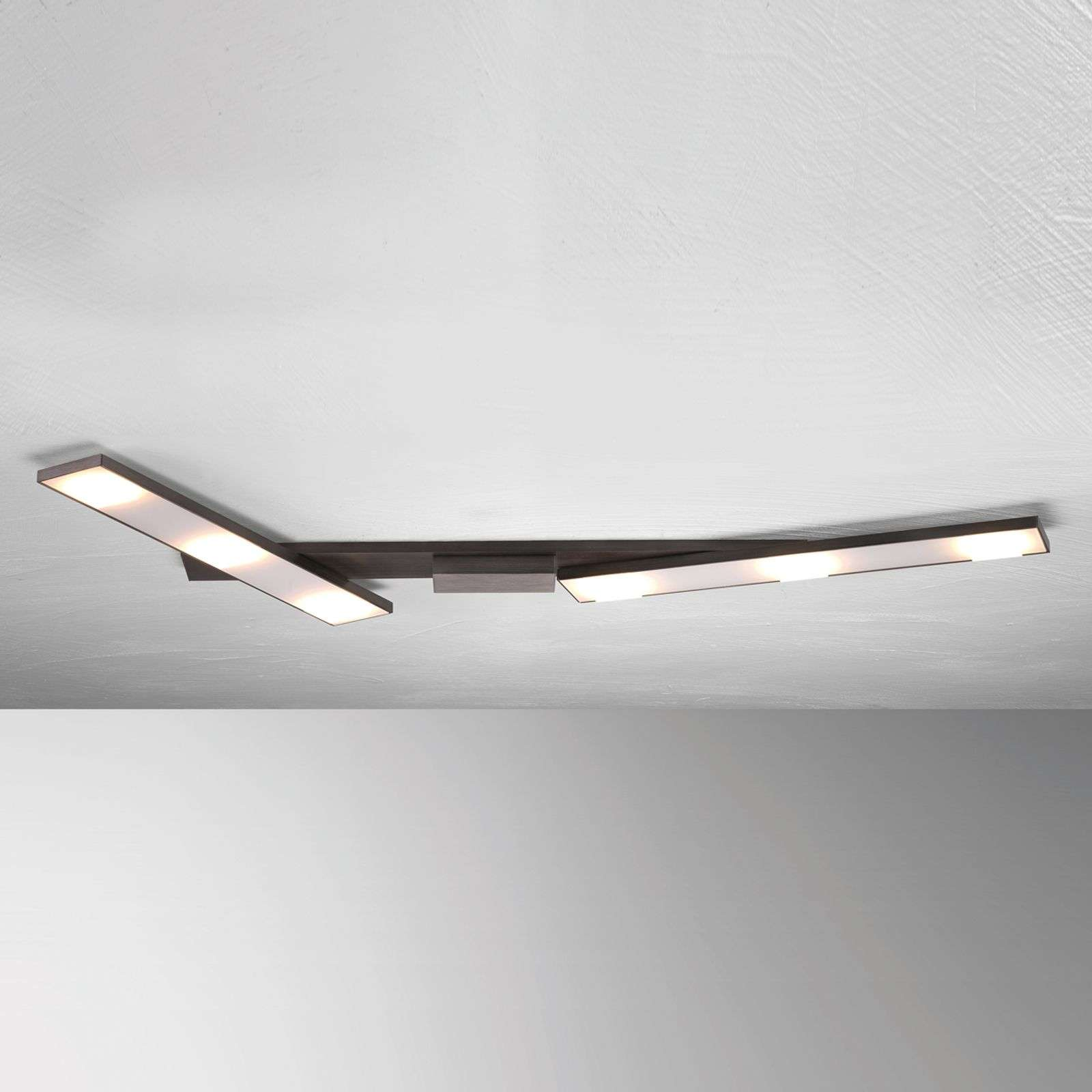 Plafoniera LED Slight orientabile, antracite