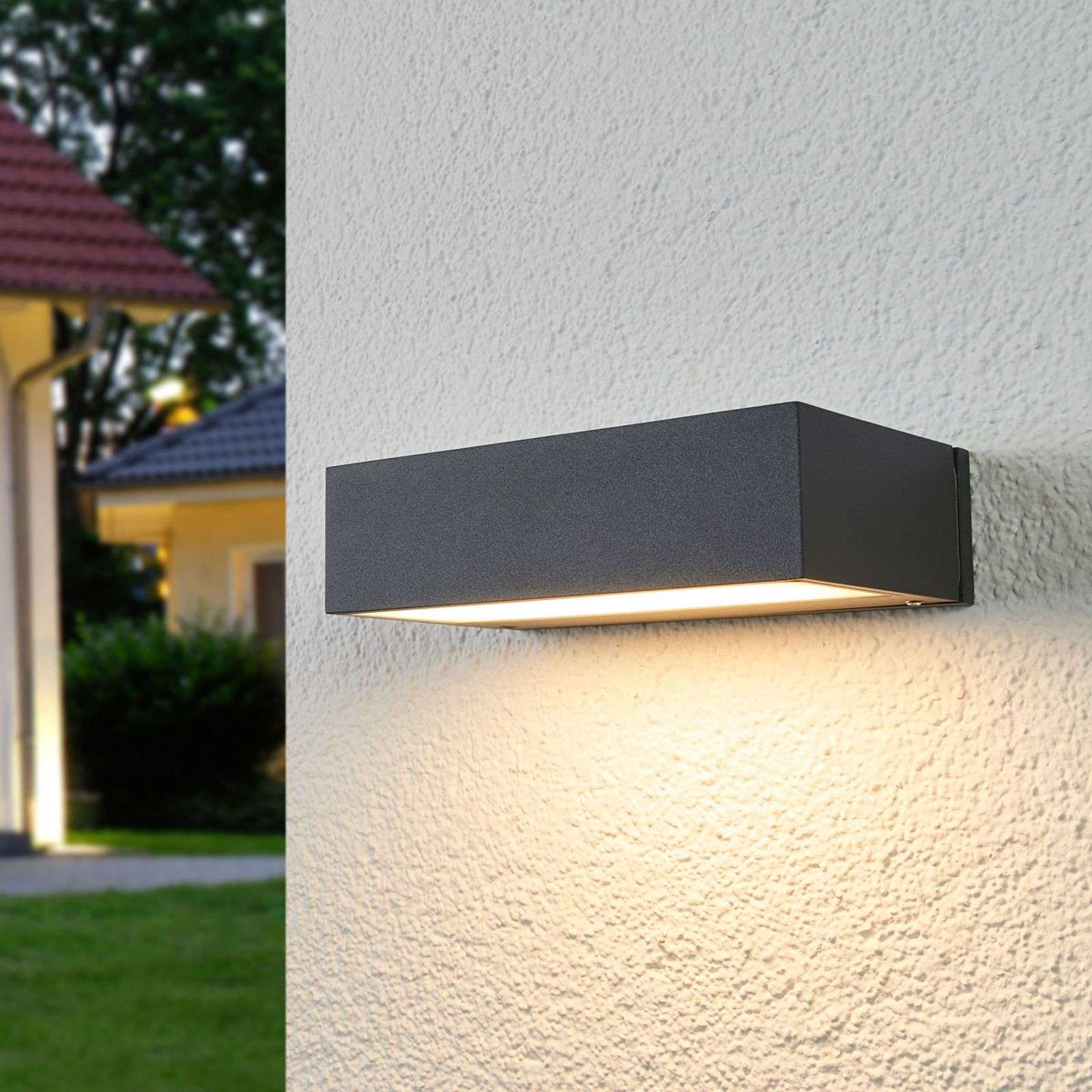 Applique da esterni LED Elton con luce downlight
