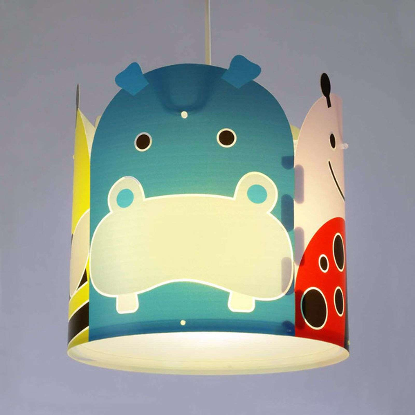 Lampada sospesa Big Friends con animali