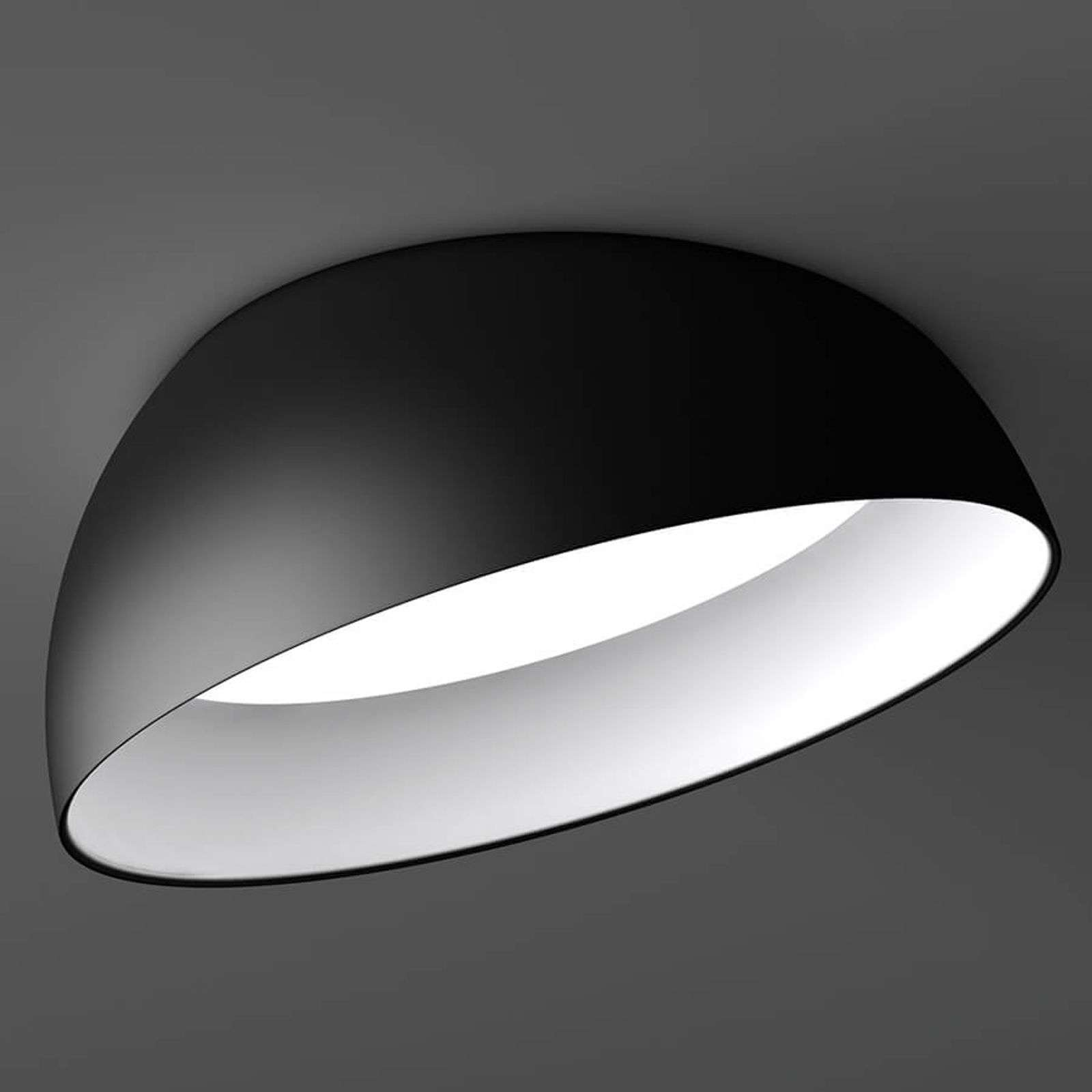 Downlight LED Superdome bianco e nero