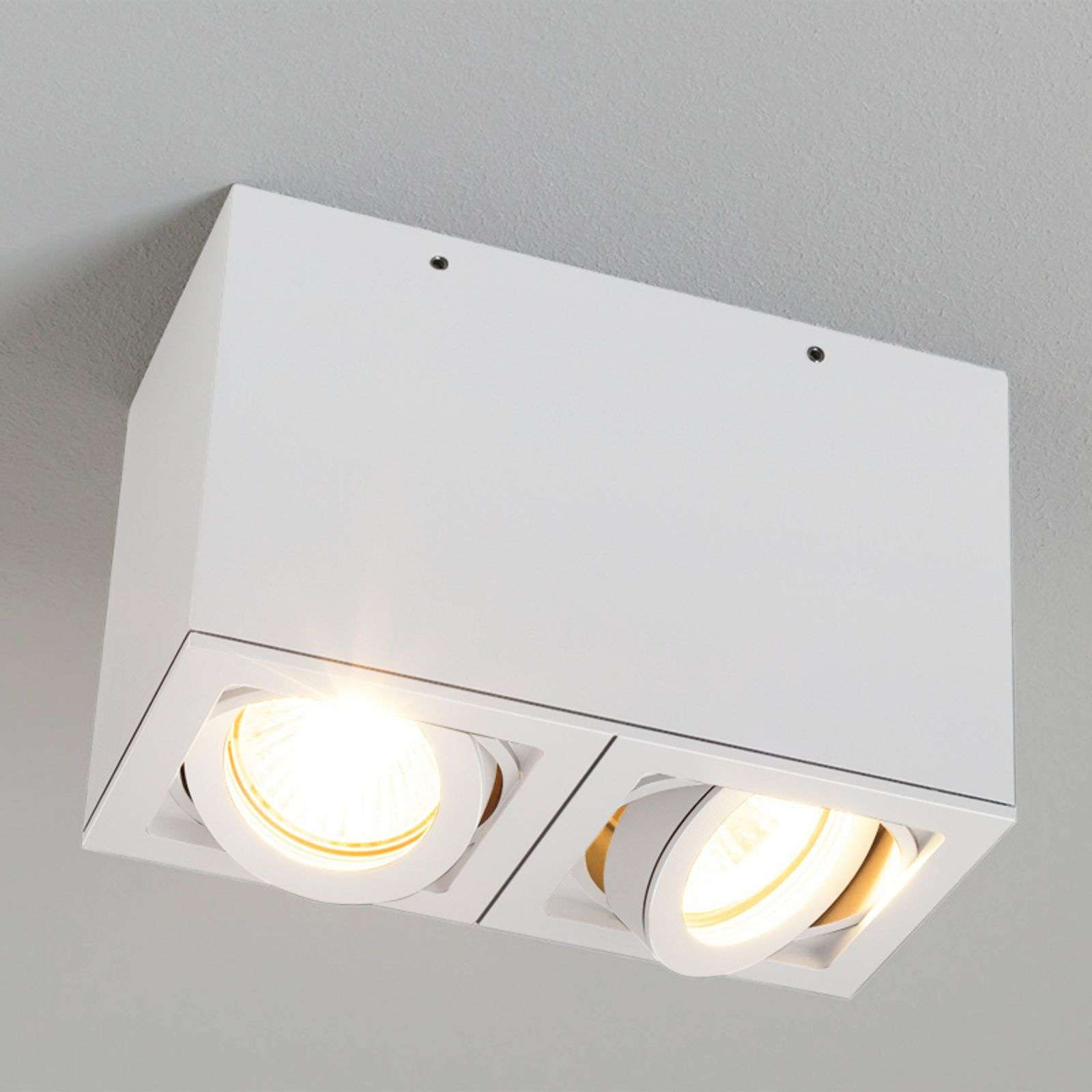 Faretto a soffitto a 2 luci LIGHT BOX 2 bianco