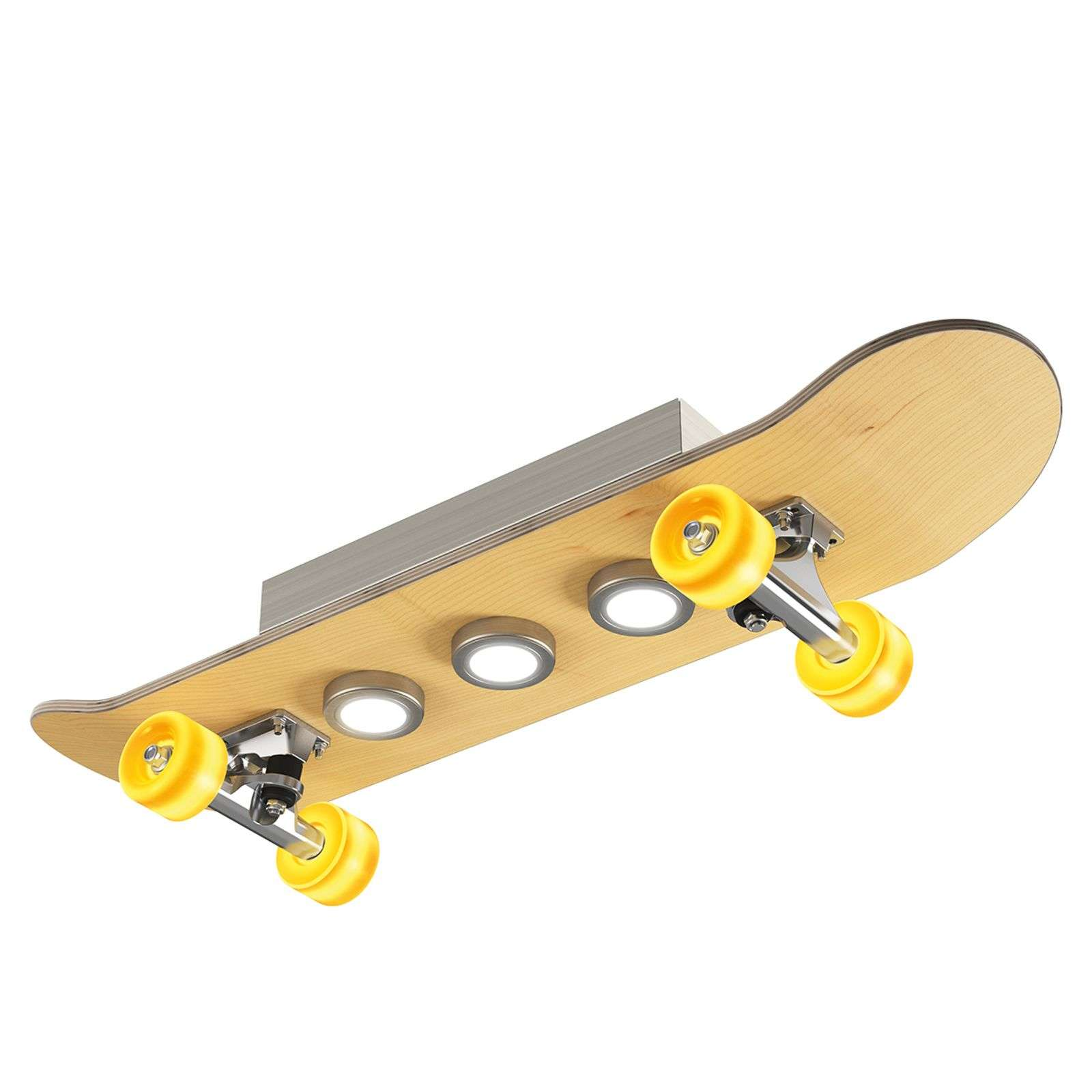 Lampada LED da soffitto Light Cruiser a skateboard