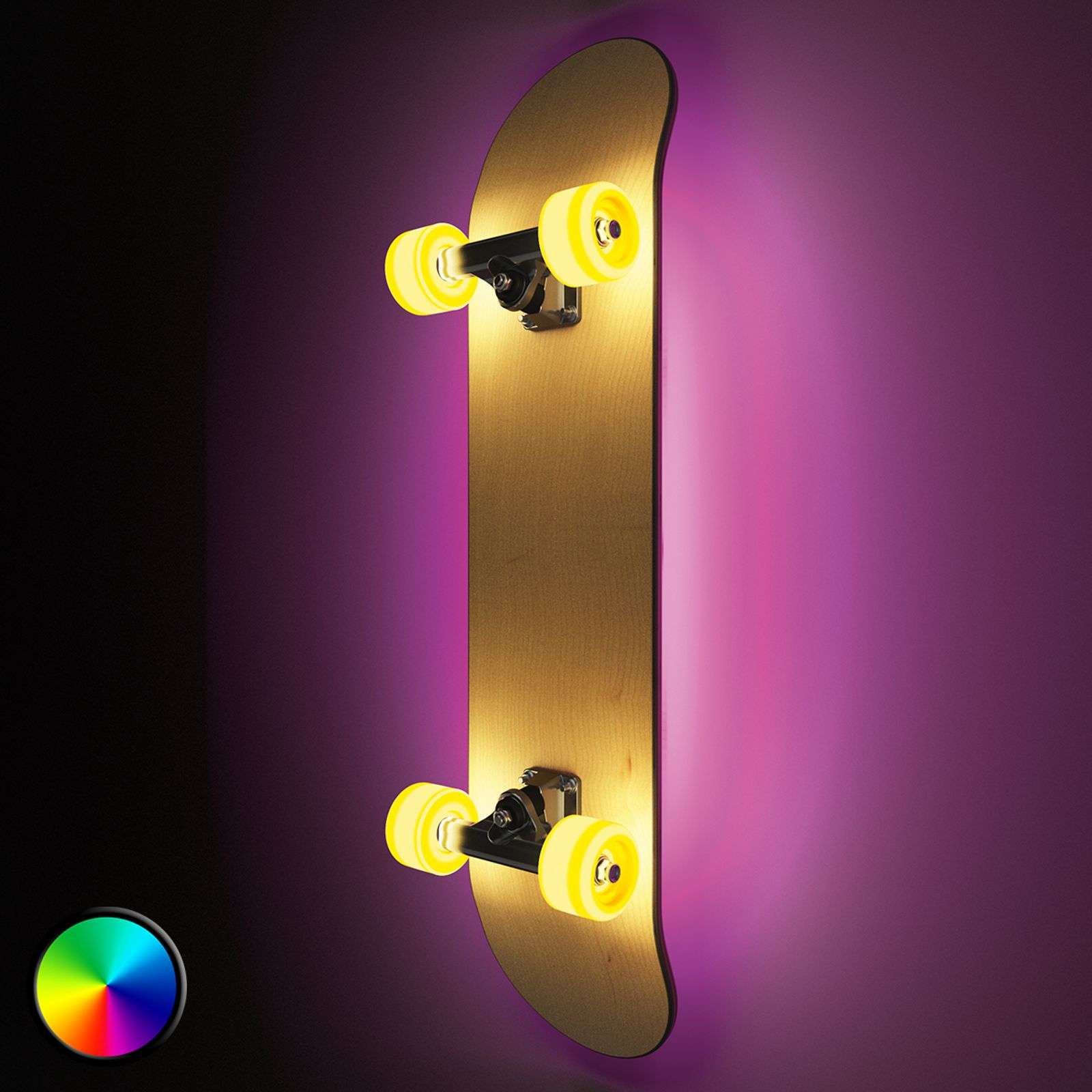 Lampada LED da parete Light Cruiser a skateboard