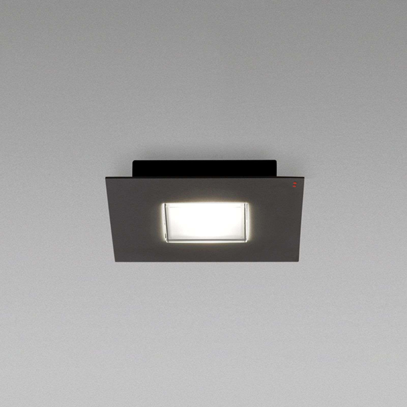 Plafoniera LED Quarter nera