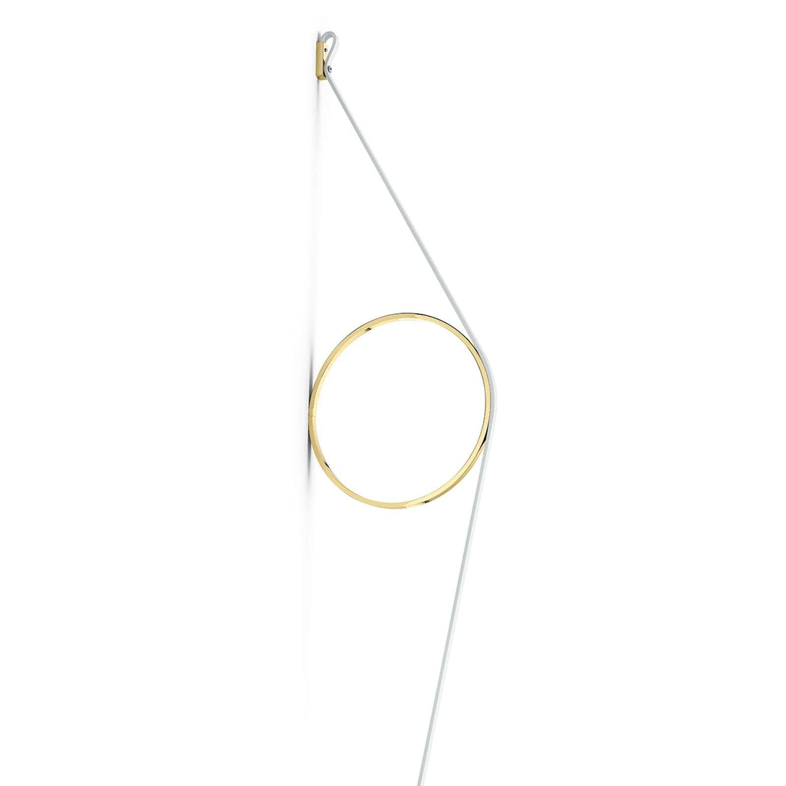 FLOS Wirering applique LED bianca, anello oro