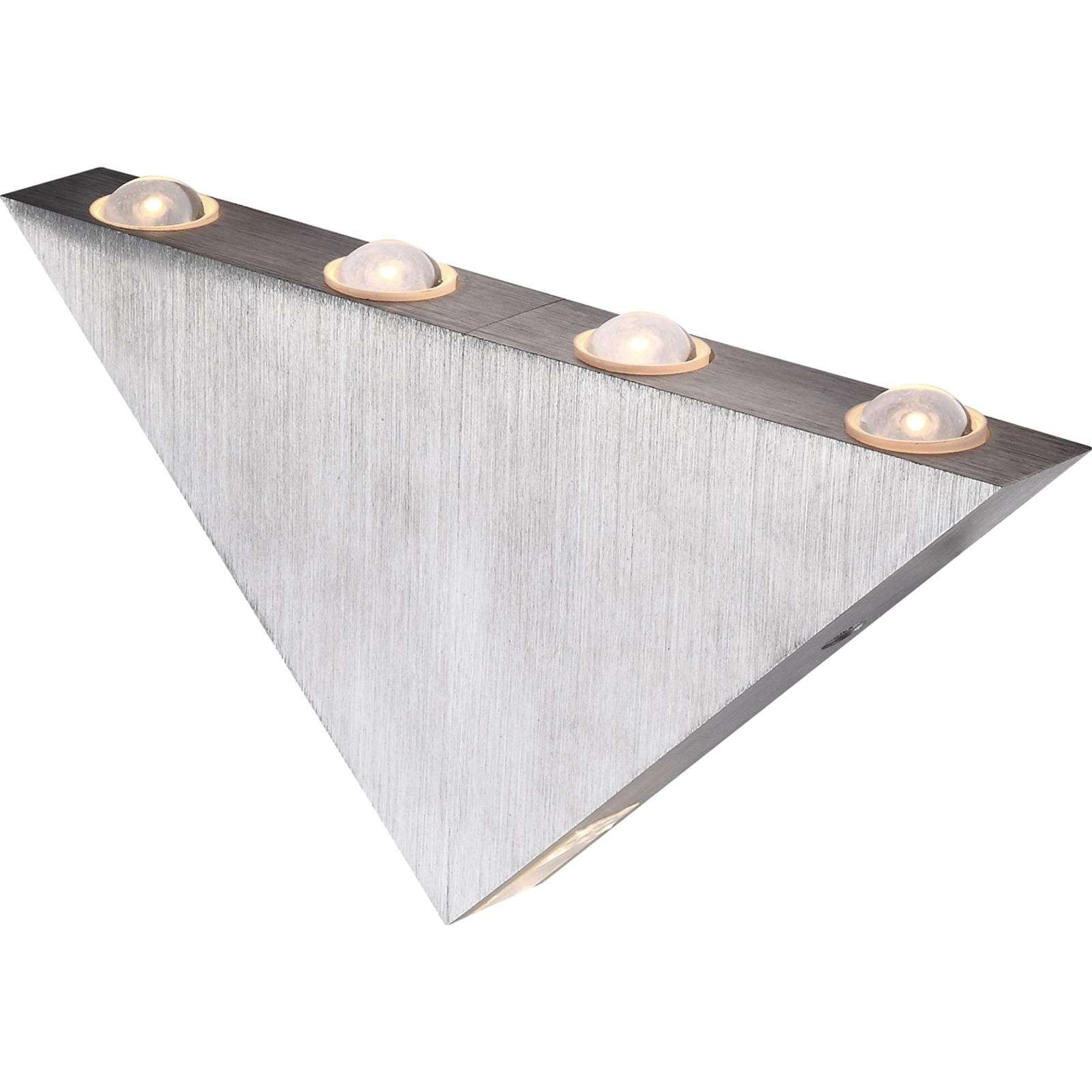 Applique LED triangolare Gordon, 23,5 cm