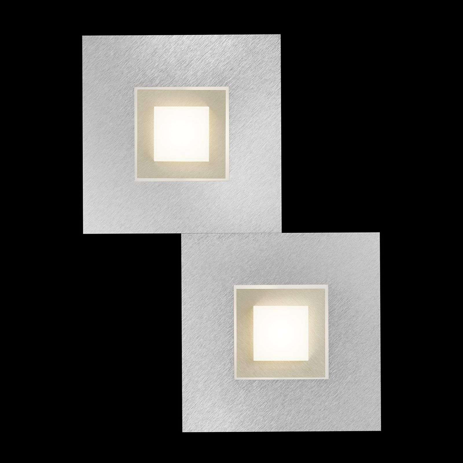 GROSSMANN Karree applique a LED a 2 luci champagne
