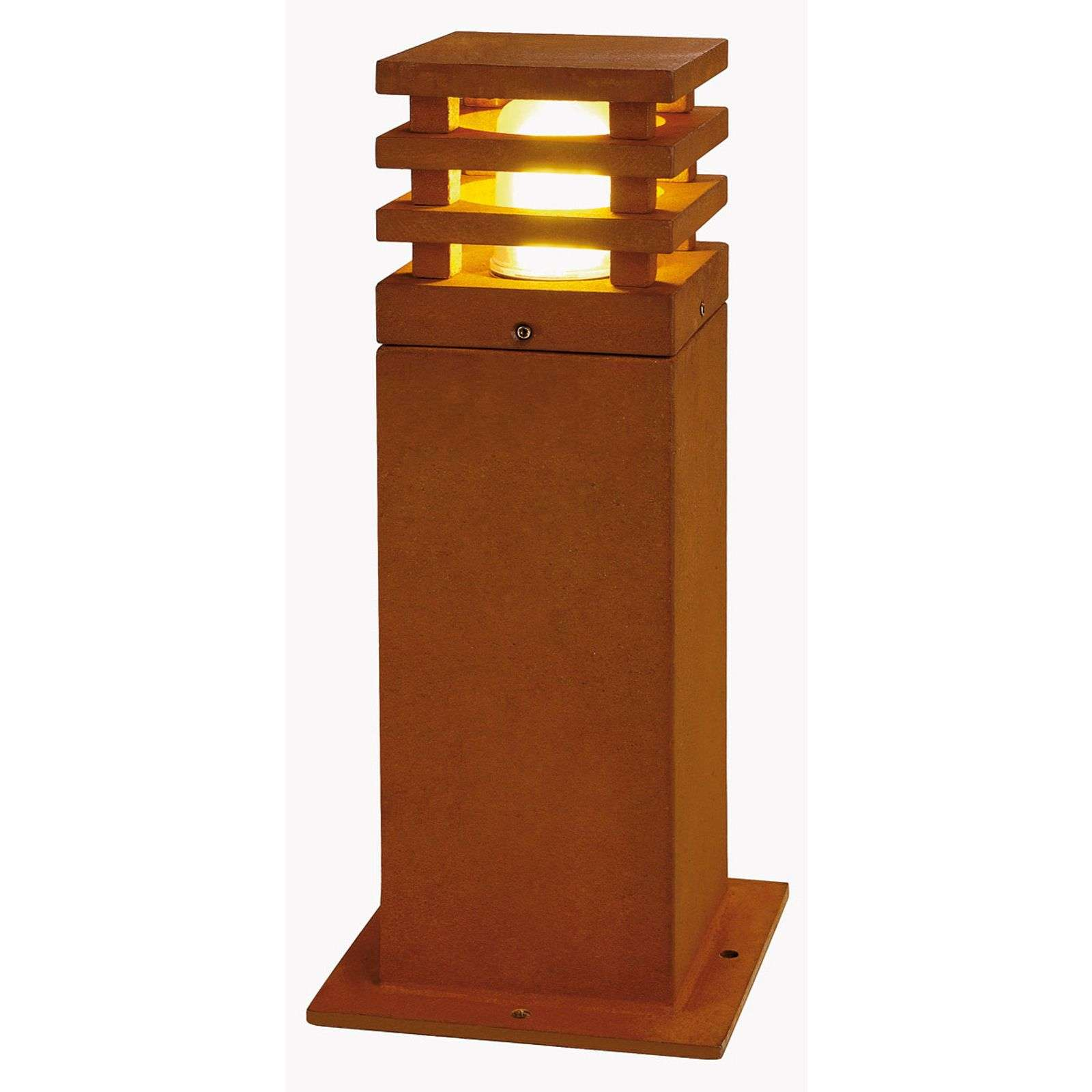 Lamp. LED con piedistallo da 40 cm Rusty quadrata