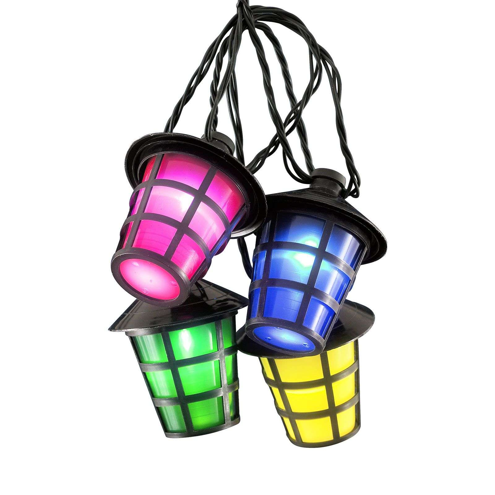 Catena luminosa Lampion, 40 lanterne LED colorate