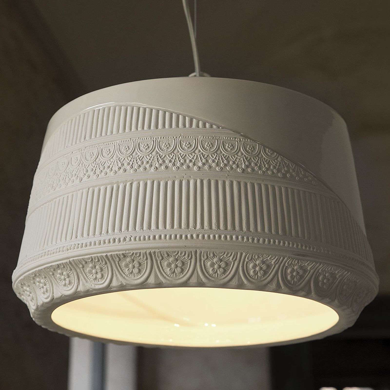 Lampada a sospensione Mademoiselle, made in Italy