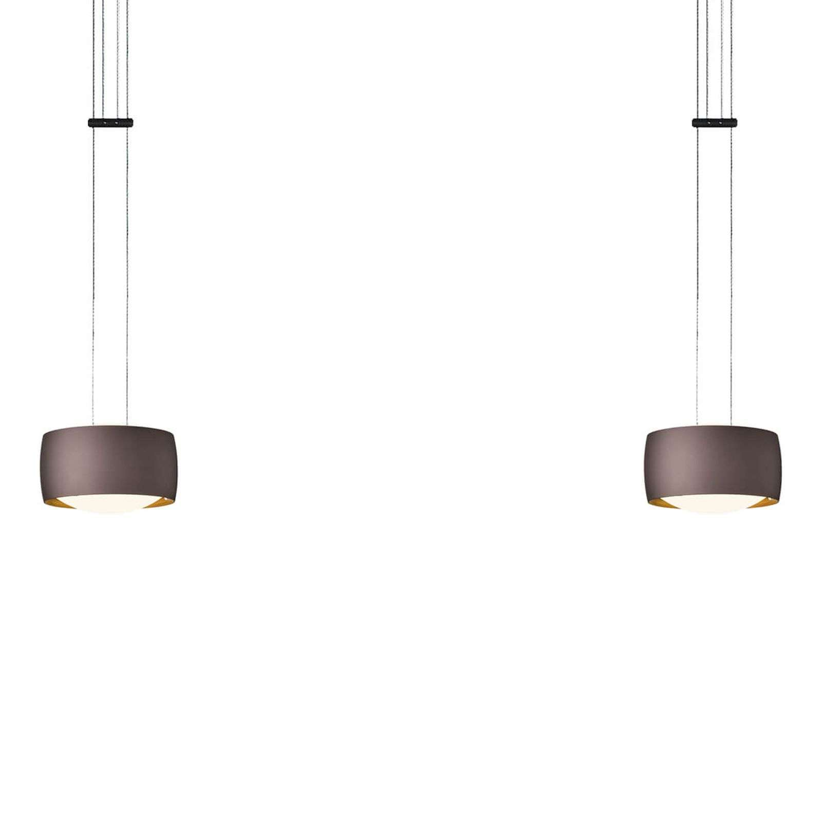 OLIGO Grace lampada LED, 2 luce marrone