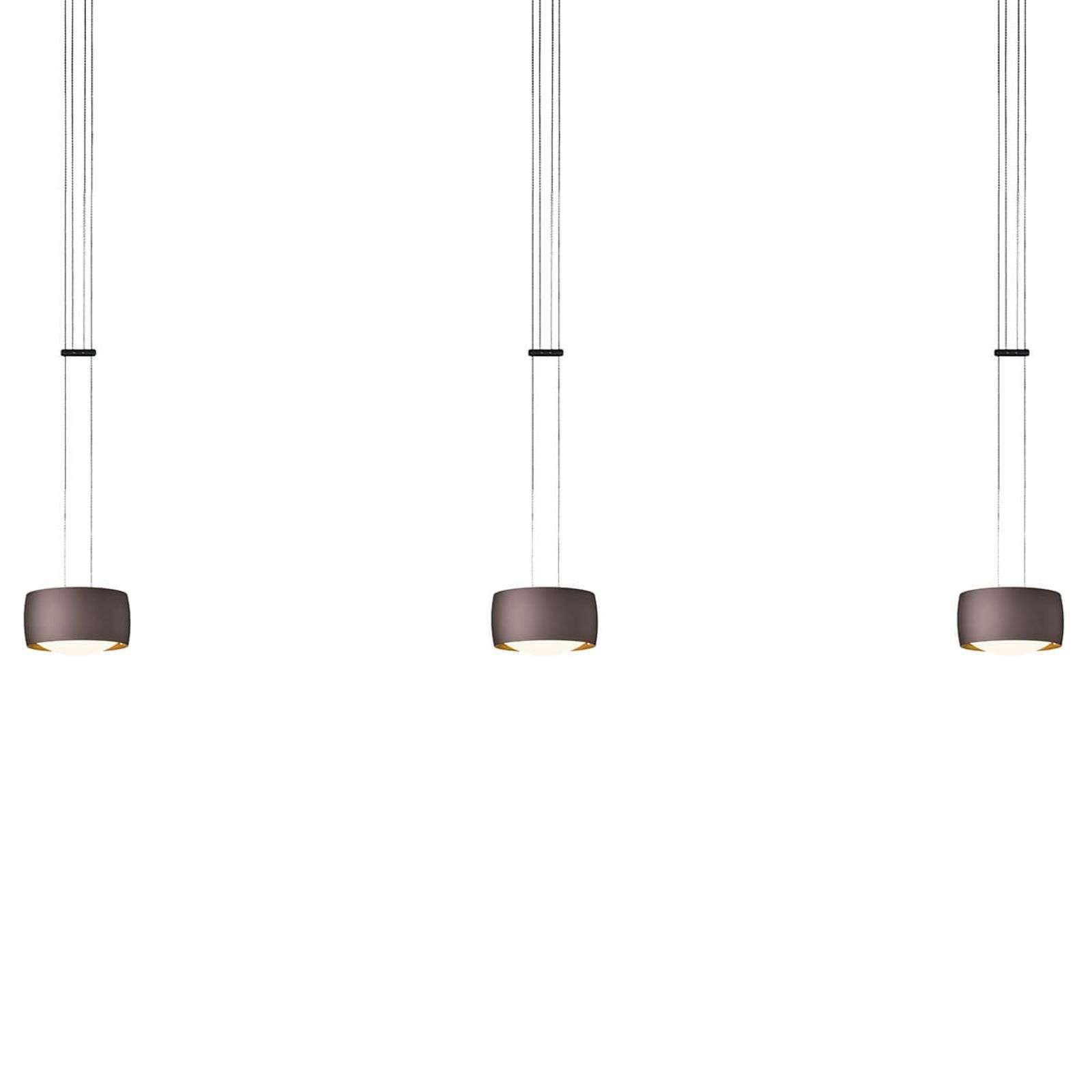 OLIGO Grace lampada LED, 3 luce marrone