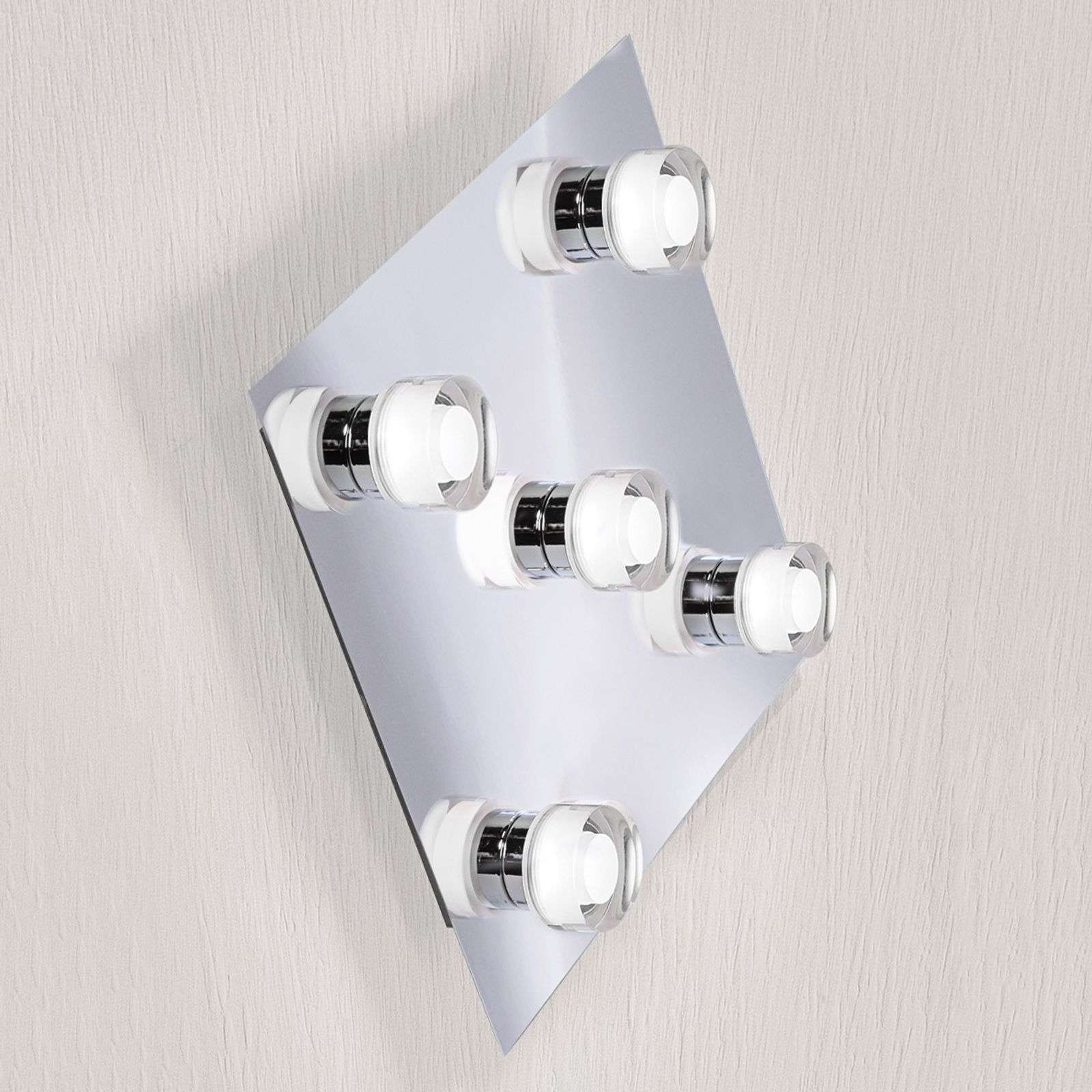 Applique LED Jenaro a 5 luci quadrata