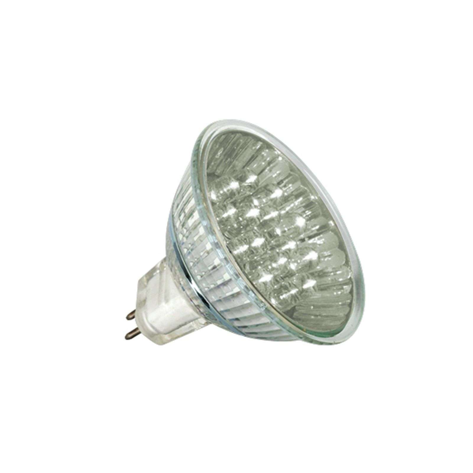 GU5,3 MR16 1W LED lampadina a riflett. luce calda