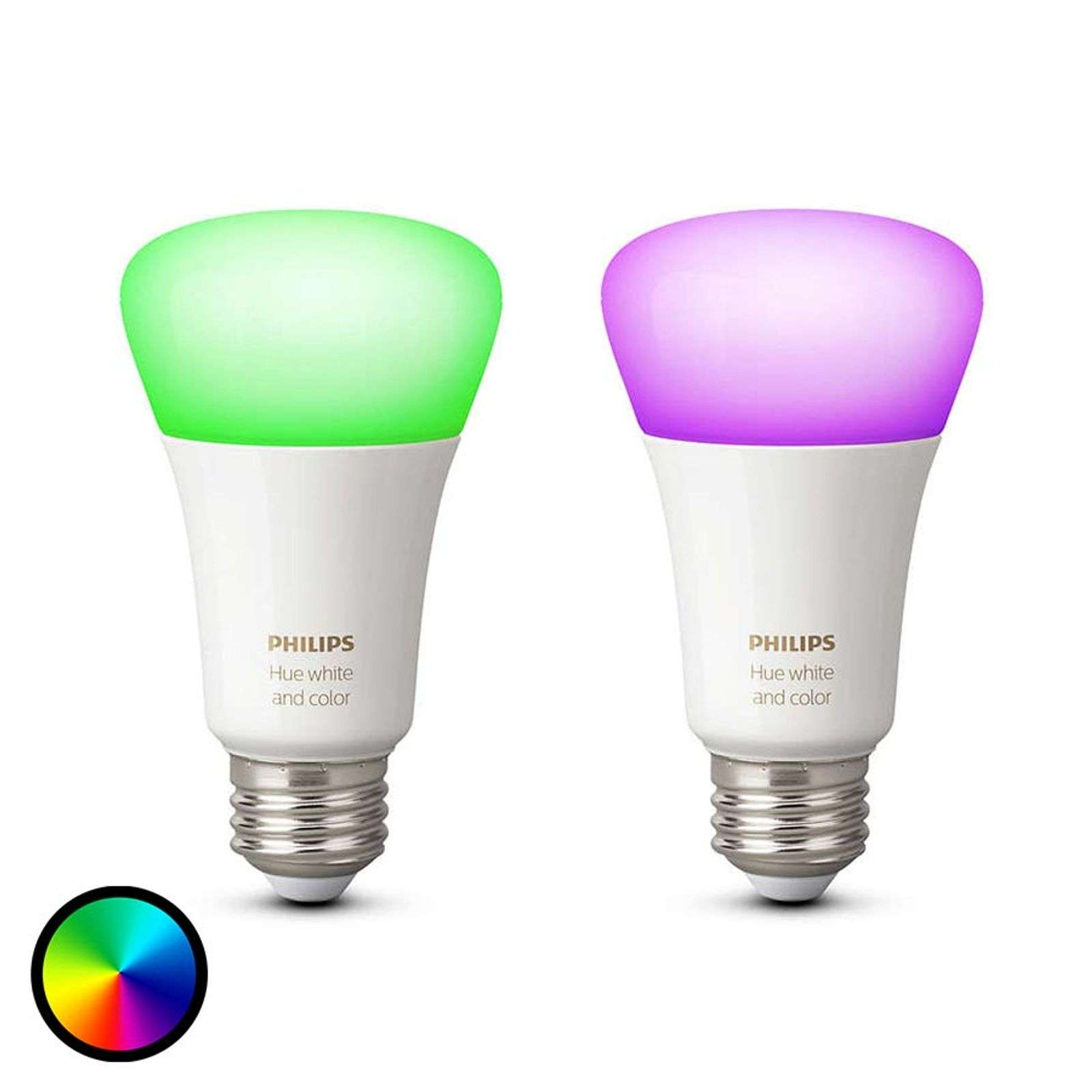 Philips Hue 2x 10W E27 White + Color Ambiance