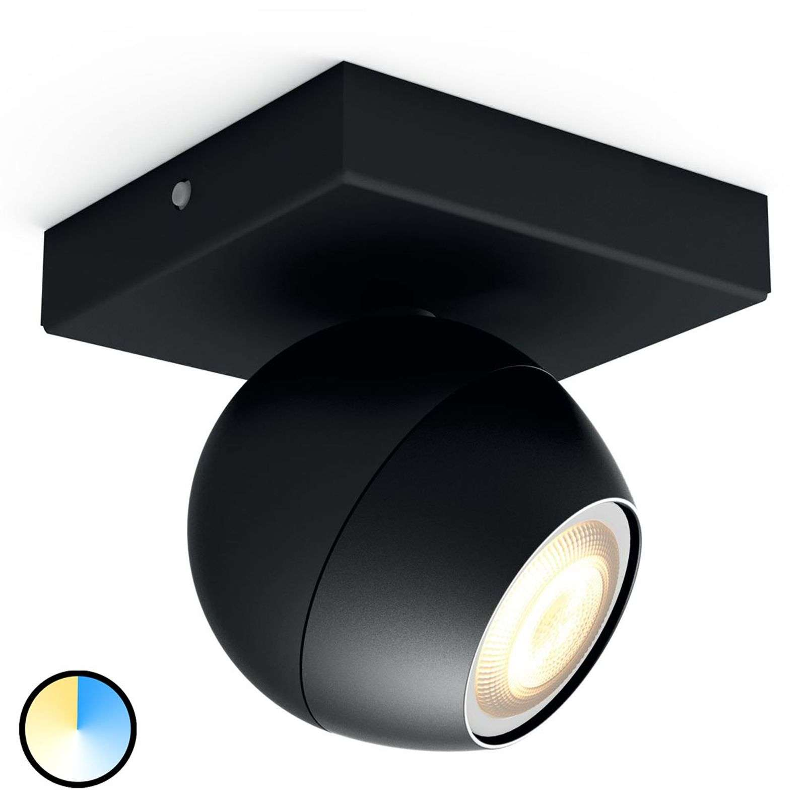Philips Hue Buckram - 1 spot LED nero
