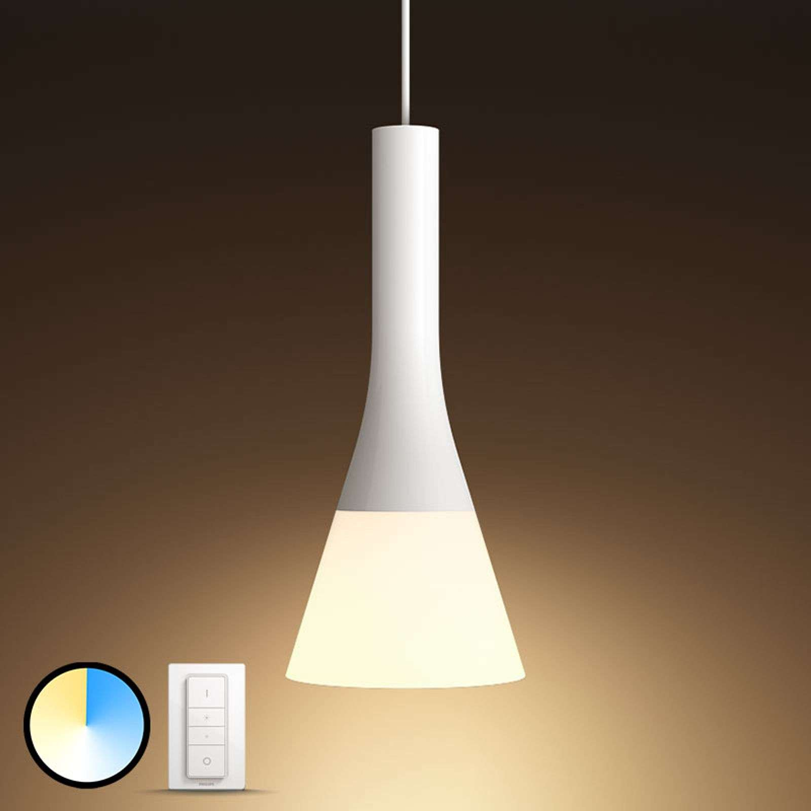 Philips Hue White Ambiance sospensione, dimmer