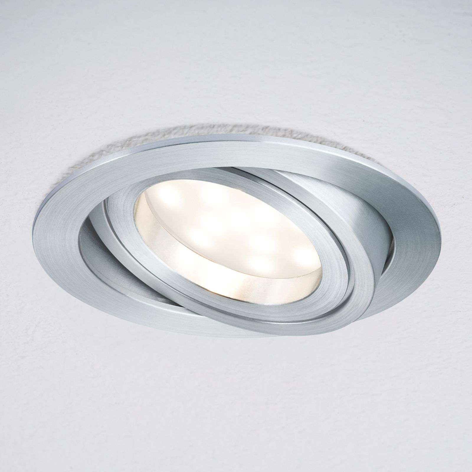 Downlight LED Coin rotondo IP23 allum., set da 3