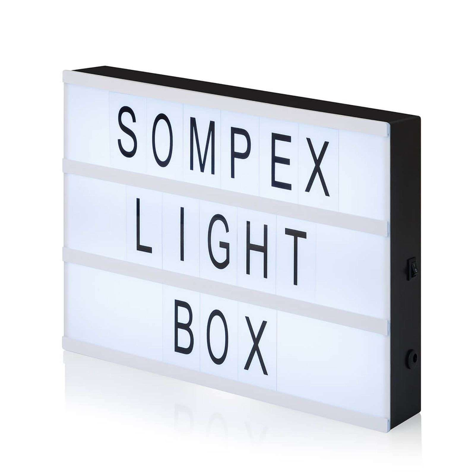 Lampada decorativa Light Box con 96 lettere