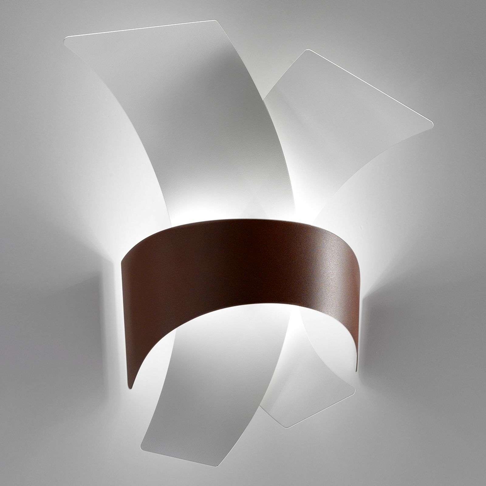 Calypso - applique a LED con archi di metallo