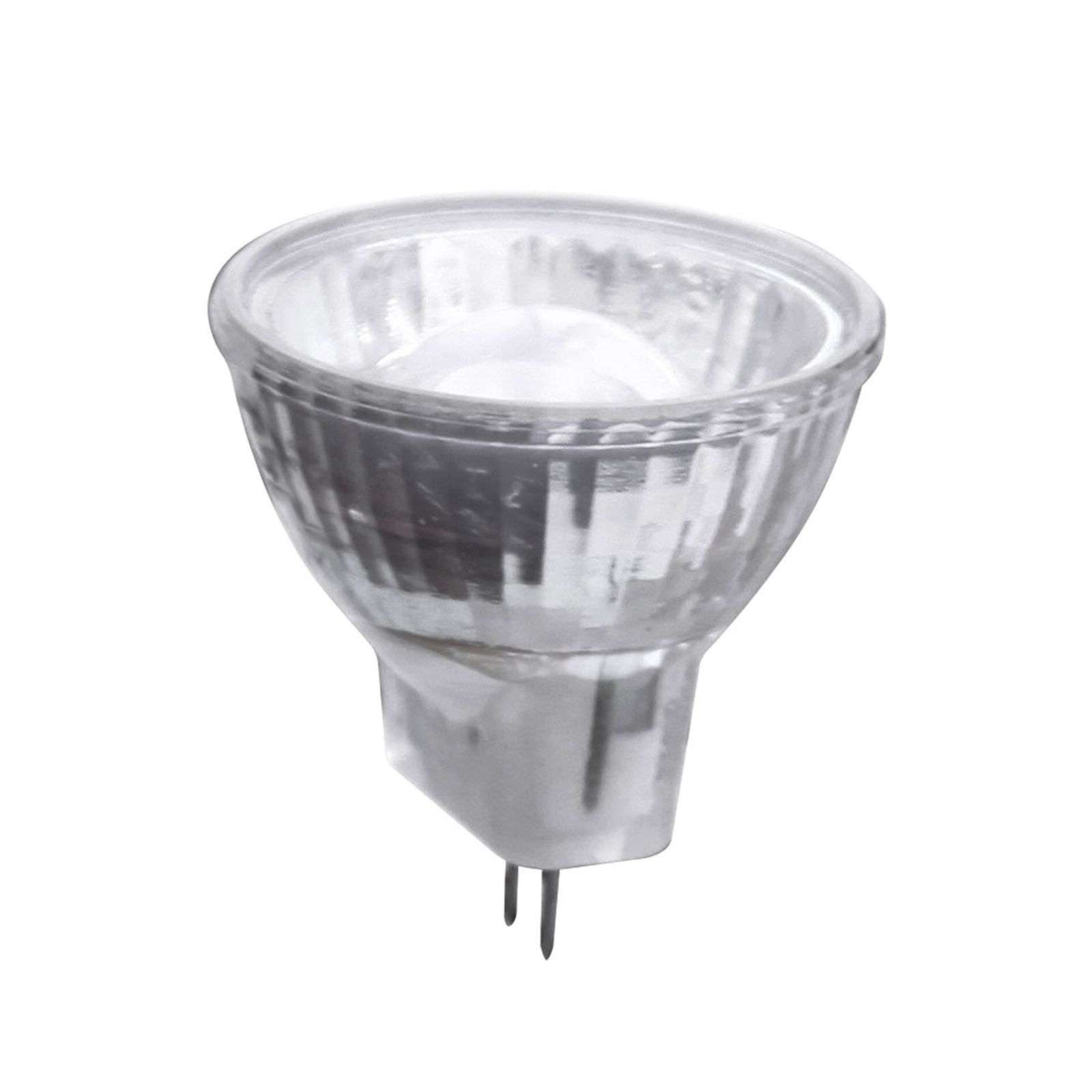 GU4 MR11 1,7 W LED a riflettore con lente