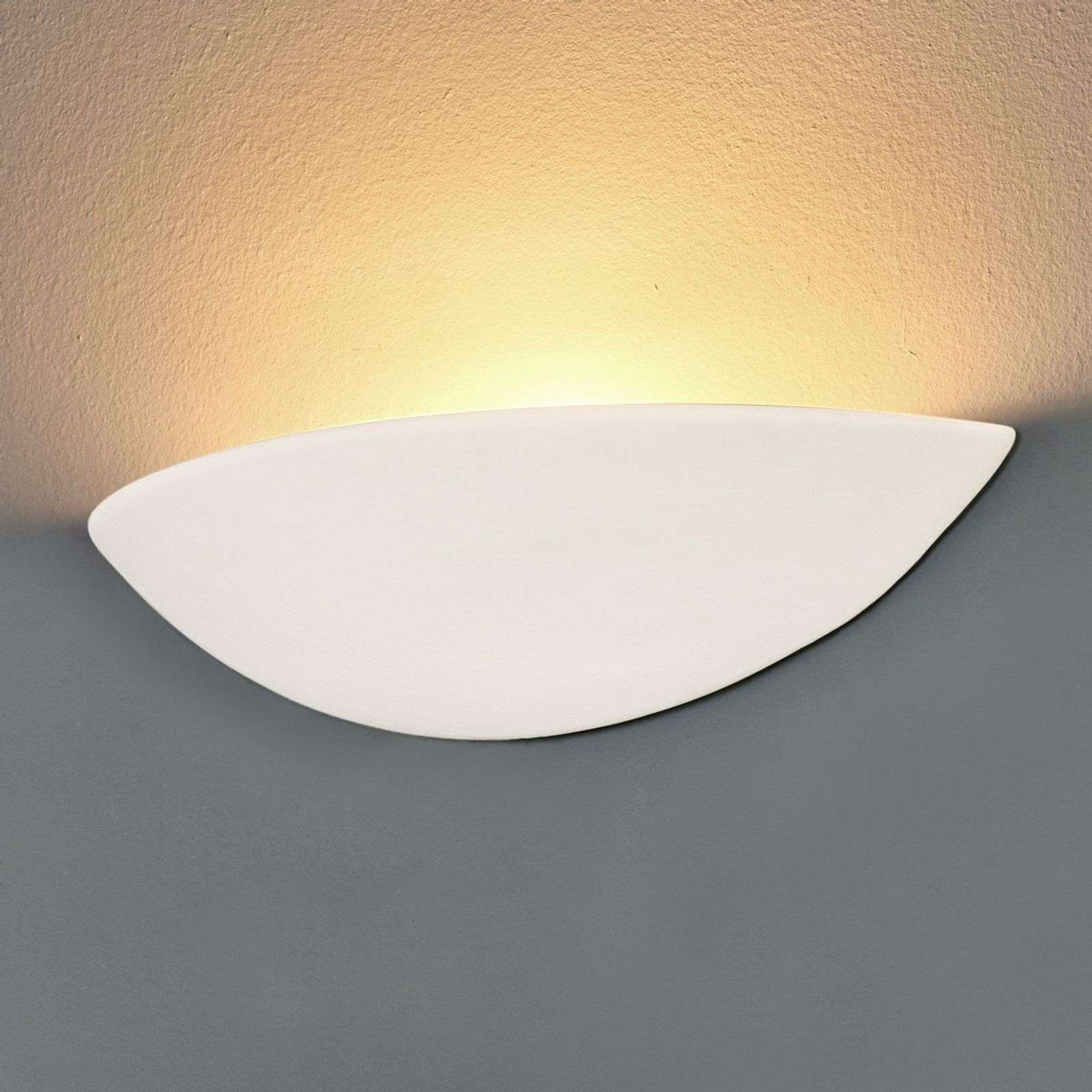 Applique LED in gesso PALE, verniciabile