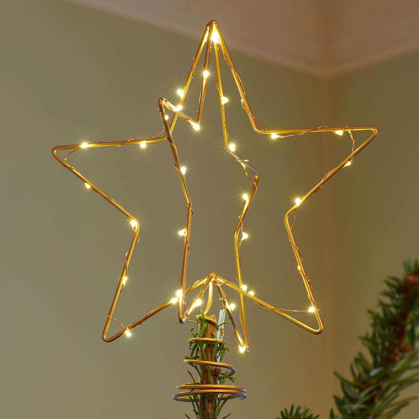 Lampada decorativa a LED Christmas Top color oro