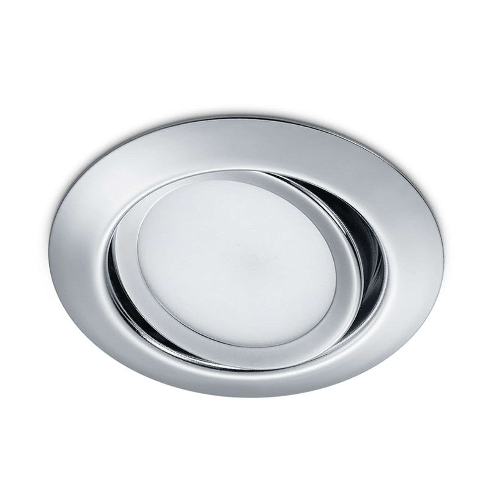Downlight LED rotondo Rila, cromo