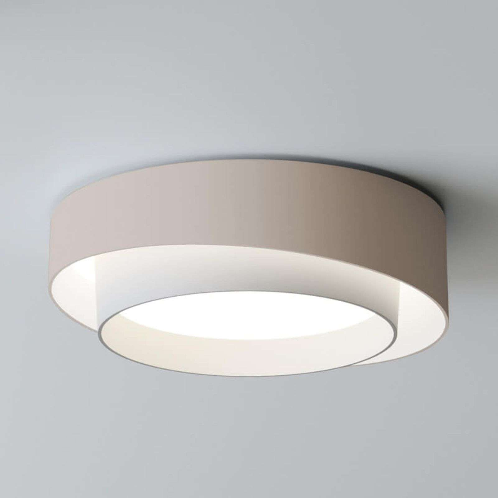 Potente plafoniera LED Centric, color crema