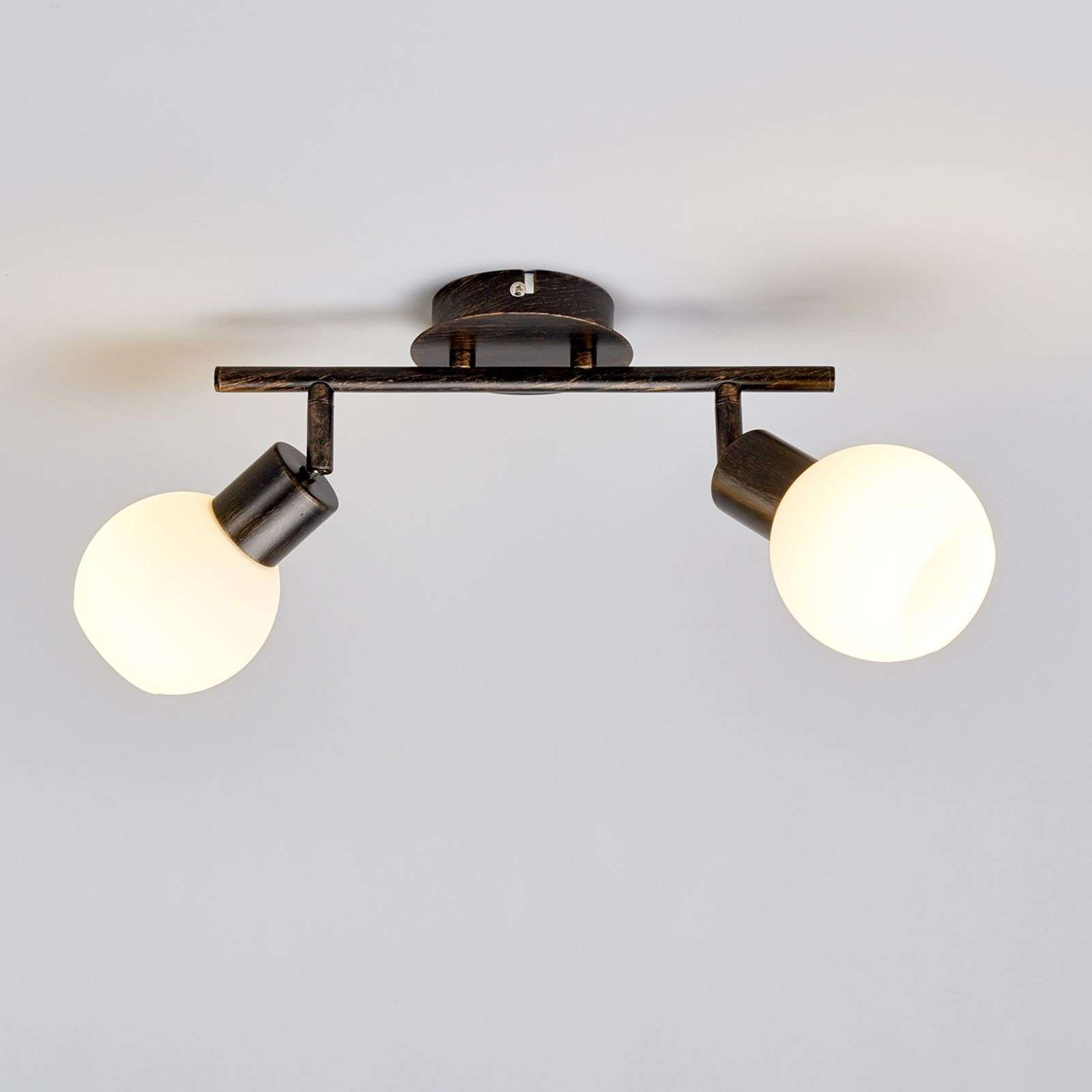 Elaina - lampada da soffitto con LED E14, ruggine