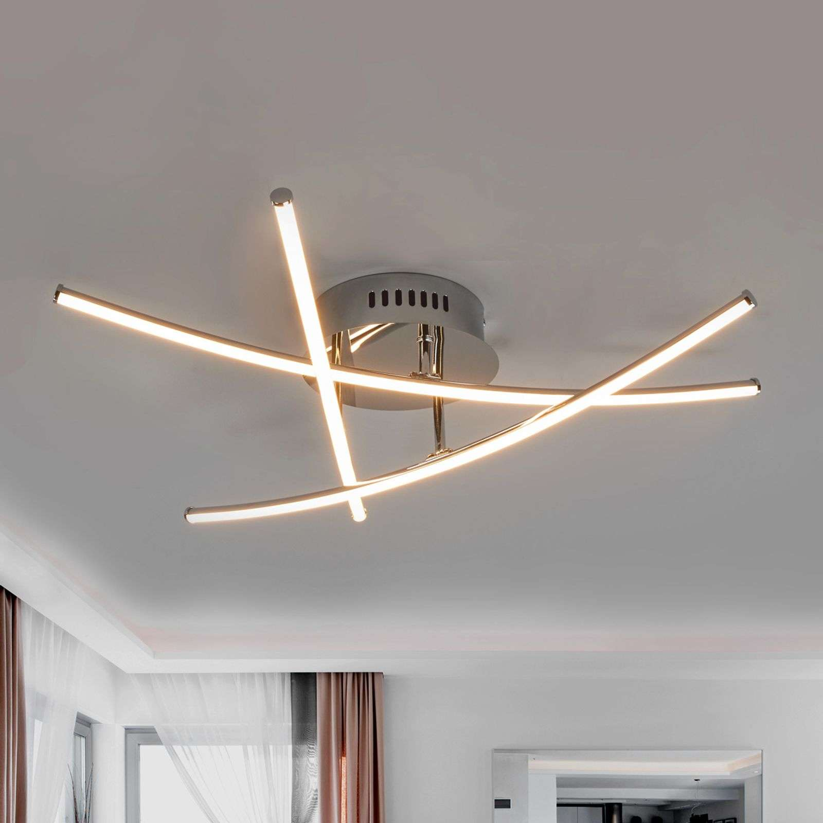 Yael - lampada LED da soffitto a barre incrociate