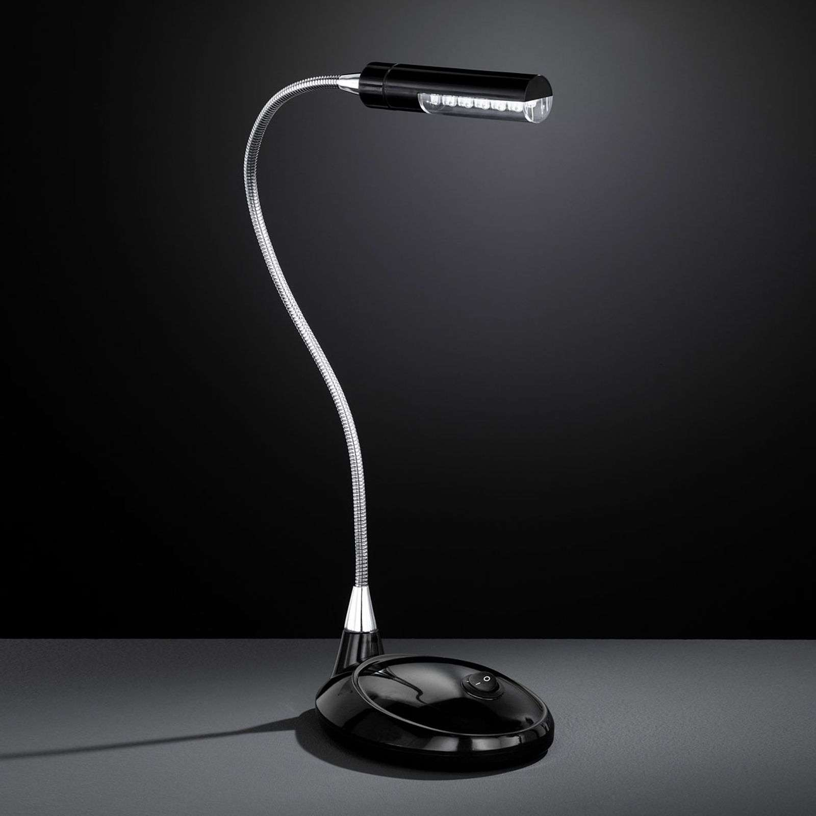Innovativa lampada scrivania LED FLEX 901 nera