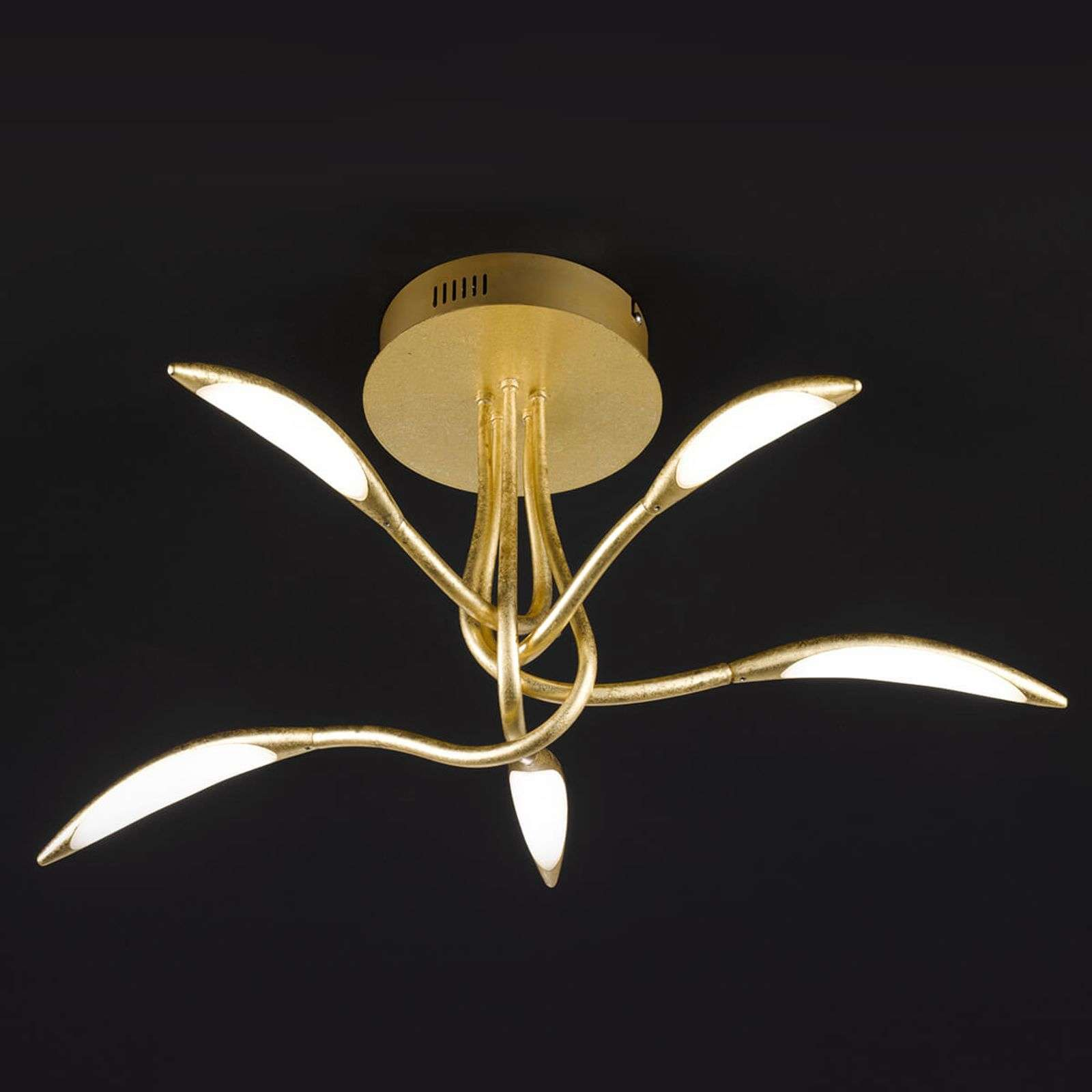 Plafoniera LED dimmerabile Hampton in oro