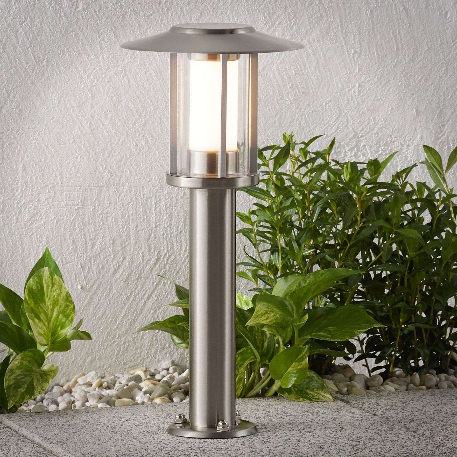 Lampioncino a LED Gregory in acciaio inox