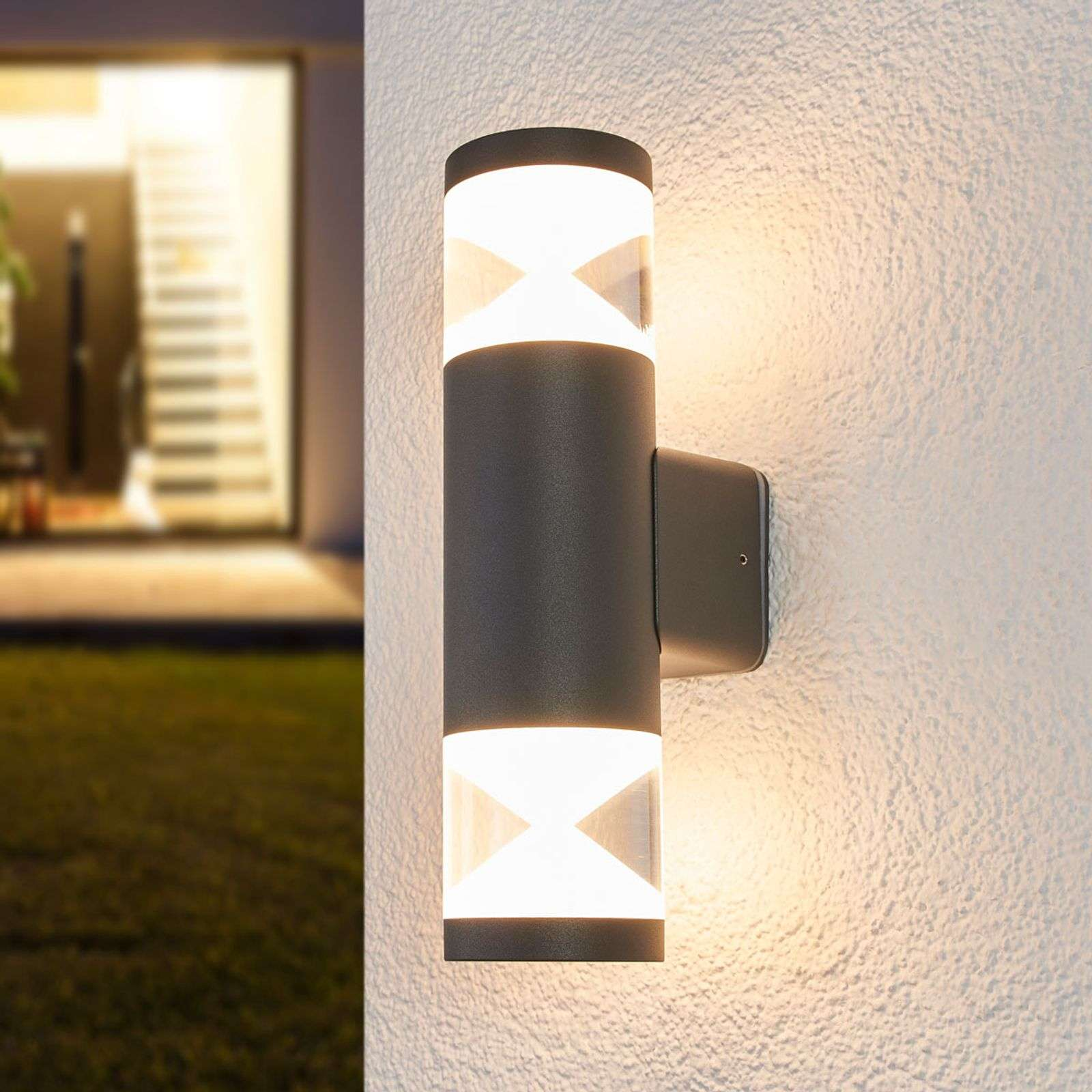 Tamiel - applique LED da esterni in grigio scuro