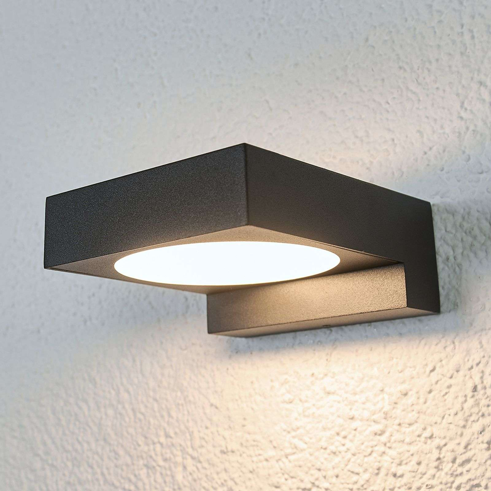 Applique LED nera Natalja da bagno
