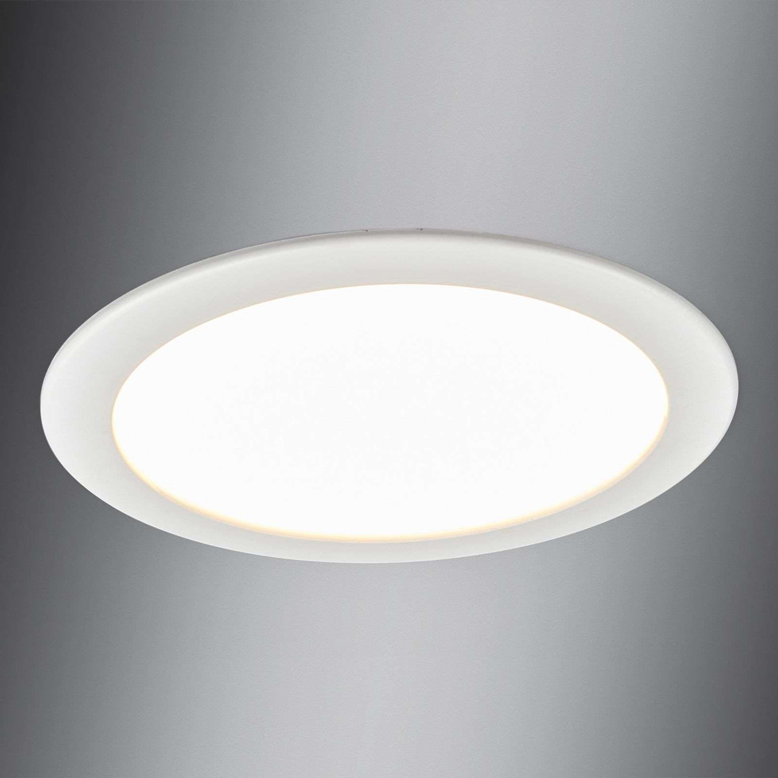 Downlight Editha per bagni, pannello LED 18W